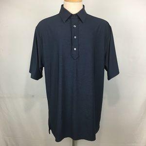 FJ FootJoy Polo Shirt Mens Large Dark Blue